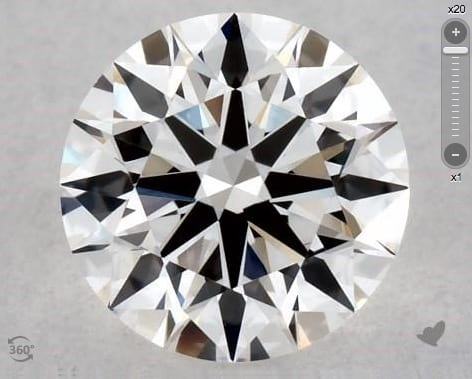 0.50 CARAT G-VS2 TRUE HEARTS IDEAL DIAMOND 3