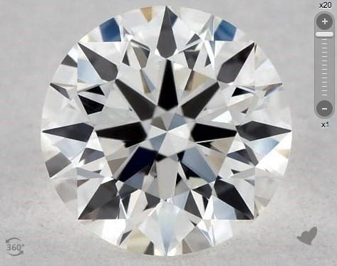 0.50 CARAT G-VS2 TRUE HEARTS IDEAL DIAMOND
