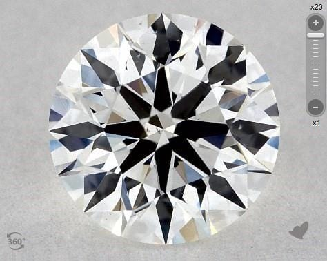 0.86 CARAT G-VS2 TRUE HEARTS IDEAL DIAMOND