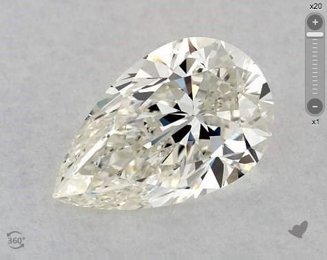 1.01 CARAT I-VS1 PEAR SHAPE DIAMOND