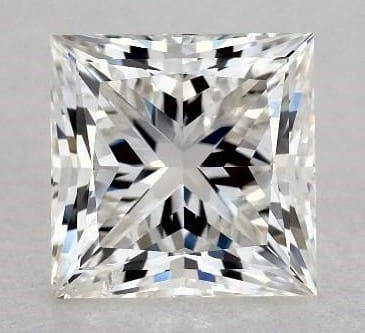1.08 CARAT G-SI1 IDEAL CUT PRINCESS DIAMOND