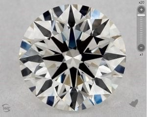 1.23 CARAT I-VS1 EXCELLENT CUT ROUND DIAMOND SKU-5372593