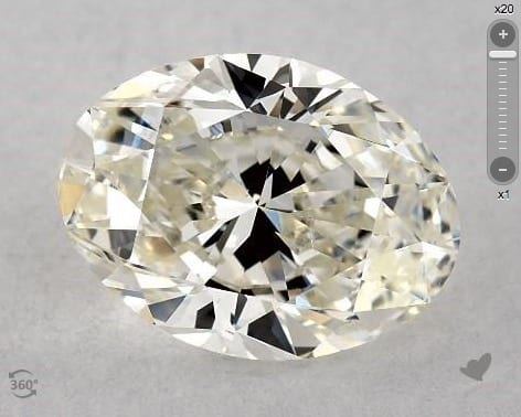 2.00 CARAT J-SI1 OVAL CUT DIAMOND