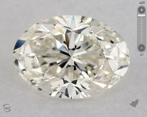 2.01 CARAT I-VVS2 OVAL CUT DIAMOND