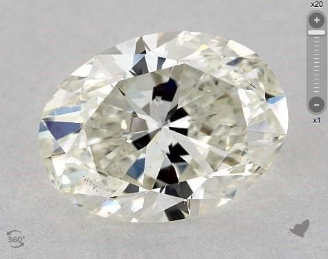 2.01 CARAT J-SI1 OVAL CUT DIAMOND 2