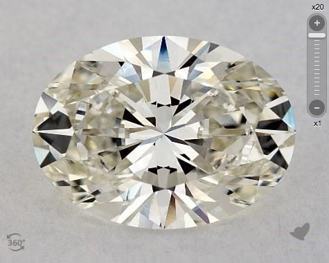 2.01 CARAT J-SI1 OVAL CUT DIAMOND