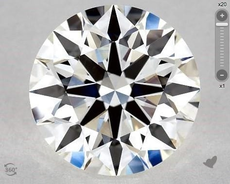2.30 CARAT G-VS1 TRUE HEARTS IDEAL DIAMOND