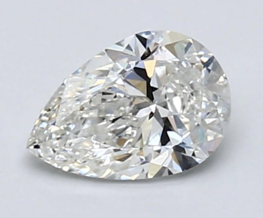 Pear-shaped diamond 0.71 carats