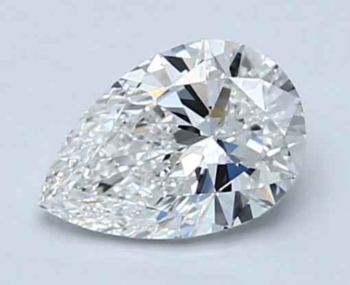 Pear-shaped diamond of 0.70 carats
