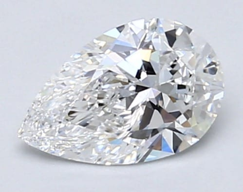 Pear-shaped diamond of 0.73 carats